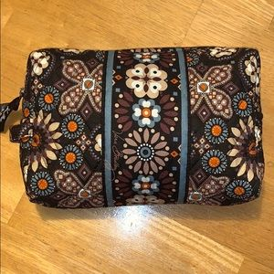 Vera Bradley cosmetic pouch brown floral